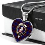 Scottish Home Modern Clan Badge Tartan Necklace Heart Style