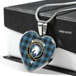 Scottish Horsburgh TARTAN Clan Badge Tartan Necklace Heart Style