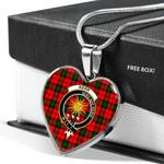 Scottish Kerr Modern Clan Badge Tartan Necklace Heart Style