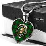 Scottish Kirkcaldy Tartans Clan Badge Tartan Necklace Heart Style
