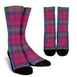 Scottish Lindsay Ancient Clan Tartan Socks - BN