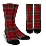 Scottish Lindsay Weathered Clan Tartan Socks - BN