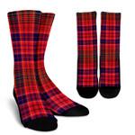 Scottish Lumsden Modern Clan Tartan Socks - BN