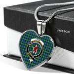 Scottish Lyon Clan Clan Badge Tartan Necklace Heart Style