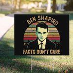 En Shapiro Facts Don't Care Vintage Yard Sign Iconic Ben Shapiro Sign Fall Outdoor Decor