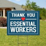 Thank You Essential Workers Yard Sign . Essential Workers Yard Sign . Appreciation Sign . Essential Workers Appreciation Sign - Family Presents - Great Blanket, Canvas, Clothe, Gifts For Family