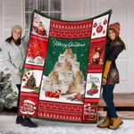 CHRISTMAS PERSIAN CAT BLANKET - Family Presents - Great Blanket, Canvas, Clothe, Gifts For Family
