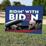 Ridin' With Biden | Yard Sign | Biden 2020 | Democrat | Elections | Liberal | USA | Print | Gift | Never Trump - Family Presents - Great Blanket, Canvas, Clothe, Gifts For Family