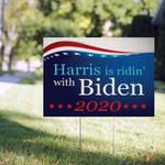 Biden / Harris 2020, Political Sign, Harris Ridin With Biden 2020 Yard Sign, Biden President Campaign Yard, Biden Kamala Harris Sign - Family Presents - Great Blanket, Canvas, Clothe, Gifts For Family