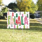 Christmas Yard Sign | Funny Christmas Yard Signs | 2020 Funny Christmas Signs | Quarantine Christmas Yard Sign | Falala Sign - Family Presents - Great Blanket, Canvas, Clothe, Gifts For Family
