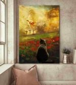 Jesus And Black Cat - To The Beautiful World Canvas Home Decor, Wall Art Decor