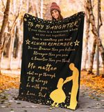 Blanket To My Dear Daughter - Father and daughter - Always remember you are brave - Family Presents - Great Blanket, Canvas, Clothe, Gifts For Family