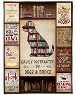 Dog & Book Blanket, Sorry My Weekend Is All Booked Fleece Blanket - Family Presents - Great Blanket, Canvas, Clothe, Gifts For Family