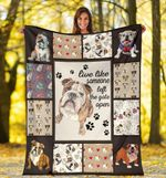 Dog Blanket Live Like Someone Left The Gate Open English Bulldog Dog Lover Gift Fleece Blanket - Family Presents - Great Blanket, Canvas, Clothe, Gifts For Family