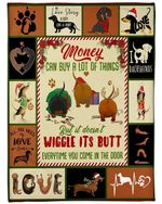 Dachshund Dog Blanket Money Can Buy A Lot Of Things, Gift For Christmas, Birthday Fleece Blanket - Family Presents - Great Blanket, Canvas, Clothe, Gifts For Family