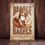 Beagle Dog Bagel Company Canvas - Family Presents - Great Blanket, Canvas, Clothe, Gifts For Family