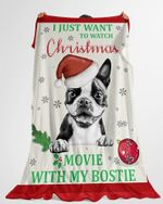Personalized Watch Christmas Movies With My Pets  Fleece Sherpa Woven Blankets  Gifts For Dog Lovers  Gifts For Pet Lovers - Family Presents - Great Blanket, Canvas, Clothe, Gifts For Family
