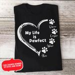 Personalized Gift For Dog Dad My Life Is Pawfect T-shirt