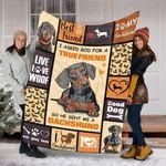 Custom Blanket Cute Dogs Blanket - Dog Gifts 2 - Fleece Blanket - Family Presents - Great Blanket, Canvas, Clothe, Gifts For Family