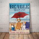 Beagle Dog Beach Club Canvas - Family Presents - Great Blanket, Canvas, Clothe, Gifts For Family