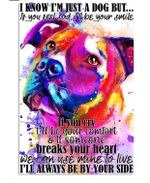 Pitbull Limited Edition Vertical Canvas - I'll always be by your side - Family Presents - Great Blanket, Canvas, Clothe, Gifts For Family