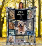 Dog Blanket You're Pawsome Goldendoodle Doodle Dog Fleece Blanket - Family Presents - Great Blanket, Canvas, Clothe, Gifts For Family