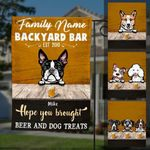 Personalized Dog Backyard Bar Gardening Flag OB233 30O60 - Family Presents - Great Blanket, Canvas, Clothe, Gifts For Family