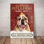 Bulldog Bubble Bath Company Canvas - Anniversary Birthday Christmas Housewarming Gift Home - Family Presents - Great Blanket, Canvas, Clothe, Gifts For Family