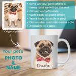 Custom Pet Coffee Mug - Custom Dog Mug - Dog Photo Mug - Dog Face Mug - Dog Lover Coffee Mug - Pet Coffee Mug - Photo Mug - Birthday Gift - Family Presents - Great Blanket, Canvas, Clothe, Gifts For Family