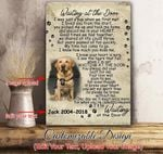 Personalized canvas - Waiting at the door - Gift for dog lovers - Custom with picture and dog's name - Family Presents - Great Blanket, Canvas, Clothe, Gifts For Family