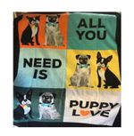 Dog Printed Fleece Blanket, Puppy Printed Fleece Blanket, All You Need Is Puppy Love Hand Tied Fleece Blanket, Puppy Lover Dog Lover Blanket - Family Presents - Great Blanket, Canvas, Clothe, Gifts For Family