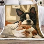 Love Boston Terrier Blanket - Family Presents - Great Blanket, Canvas, Clothe, Gifts For Family
