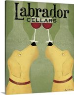 Labrador Cellars Wall Art Canvas - Family Presents - Great Blanket, Canvas, Clothe, Gifts For Family