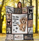 Dog Blanket Live Like Someone Goldendoodle Dog Fleece Blanket - Family Presents - Great Blanket, Canvas, Clothe, Gifts For Family