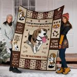 BEAGLE DOG BLANKET - I'LL BE WATCHING YOU - Family Presents - Great Blanket, Canvas, Clothe, Gifts For Family