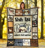 Dog Blanket Shih Tzu Nature's Bed Warmer Shih Tzu Dog Fleece Blanket - Family Presents - Great Blanket, Canvas, Clothe, Gifts For Family