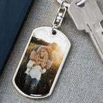 Photo Keychain Personalized, Custom Photo Keychain, Photo Keychain Engraved, Photograph Keychain, Personalized Picture Keychain