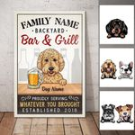 Personalized Backyard Bar With Dog Canvas FB192 73O57 - Family Presents - Great Blanket, Canvas, Clothe, Gifts For Family