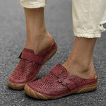 Comfortable Retro Backless Flat Casual Sandals