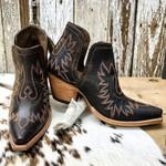 Women's Leather Block Heel Western Boots