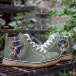 Round Toe Flat Heel Lace-Up Women Fashion Sneakers