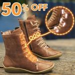 Women Braided Strap Flat Heel All Season Boots
