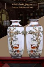 Jingdezhen Ceramic Vase Vintage Chinese Traditional Vases Home Decoration Animal Vase Fine Smooth Surface Furnishing Articles