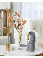 Nordic Light Luxury Art Vase Decoration Modern Simple Creative Flower vases Arrangement Flower Home Decoration Resin Crafts