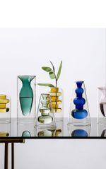Nordic Home Desk Decoration Crystal Vases for The Interior Hydroponic Flower Stained Vase Glass Flower Base Living Room Desktop