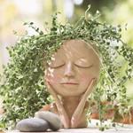 Girls Face Head Flower Planter Succulent Plant Flower Container Pot Flowerpot Figure Garden Decor Nordic Tabletop Ornament