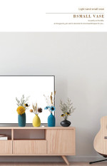 Nordic Style Ins Jingdezhen Ceramic Vase Flower Arrangement Dried Flower Simple Creative Hydroponic Flower Device Living Room