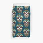 Mexican Sugar Skull, Day Of The Dead, Dias De Los Muertos 3D Personalized Customized Duvet Cover Bedding Sets Bedset Bedroom Set