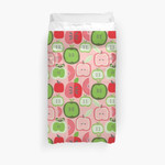 Retro Apple Fruit Pattern 3D Personalized Customized Duvet Cover Bedding Sets Bedset Bedroom Set