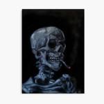 Skull Of A Skeleton With Burning Cigarette 3D Personalized Customized Duvet Cover Bedding Sets Bedset Bedroom Set